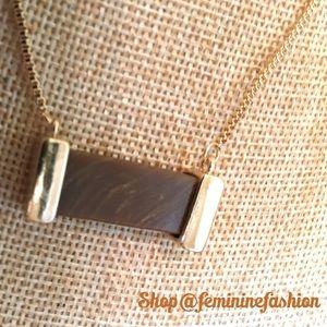 Farah Jewelry Jewelry - Semi Precious Brown Quartz Necklace & Earring Set.