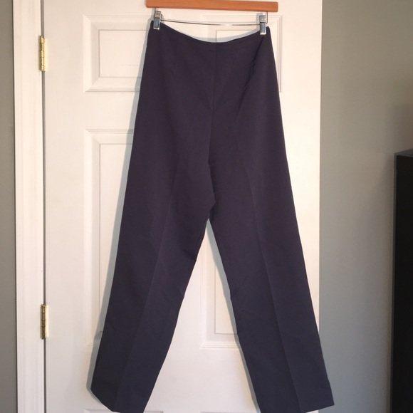 Pants - High Waisted Blue-Grey Trousers
