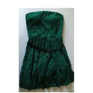 Lily Rose Dresses & Skirts - Green Lacey strapless dress