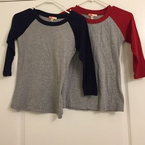Baseball Tees- Navy and Red