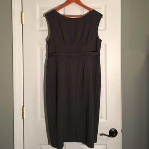 Adrienne Vittadini Dresses - Grey Belted Waist Career Dress
