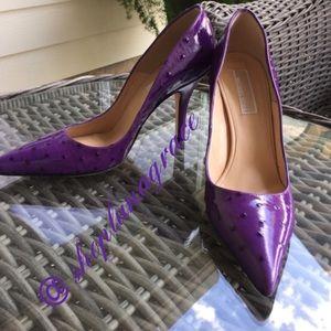 Michael Kors Shoes - Michael Kors Purple Ostrich Pumps💜HP💜