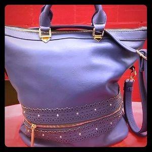 Catherine Malandrino amethyst & gold handbag