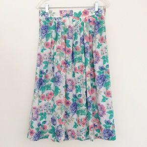 Vintage Midi Floral Skirt