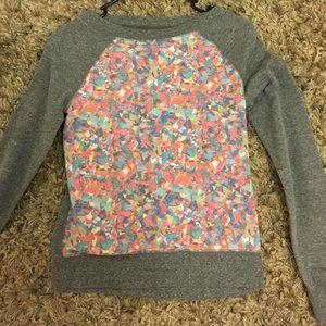 Long sleeve confetti sweater