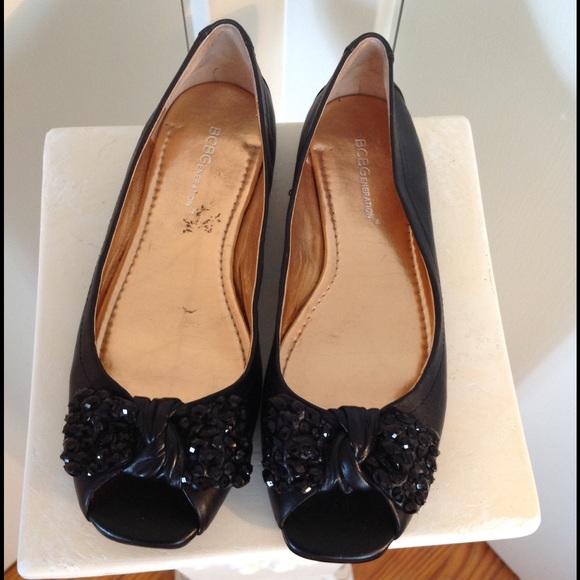 2eef5477ad1ba8 BCBGeneration Shoes - BCBG Generation Open Toe Bow Flats