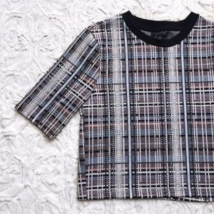 topshop plaid crop top