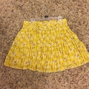 Yellow ruffled skirt