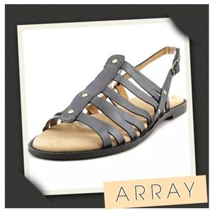 Array Shoes - ⚪️⏰ NEW! Array Leather Gladiator Sandals