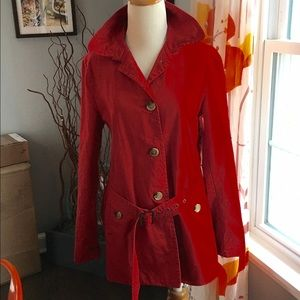 Gap red spring jacket, med, button down