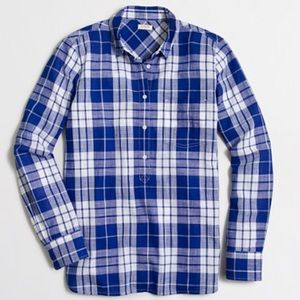 J. Crew Tops - J.Crew plaid popover