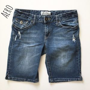 Aeropostale Pants - Destroyed Denim Bermuda Shorts