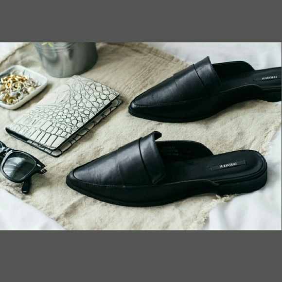 Chic Pointed Backless Loafer Slip