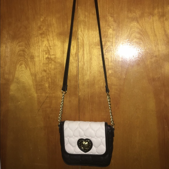 Betsey Johnson Bags Side Bag Purse Off White And Black