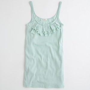 J. Crew Mint Ruffle Perfect Fit Cami Tank Top S