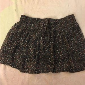 American eagle Purple flowered skirt