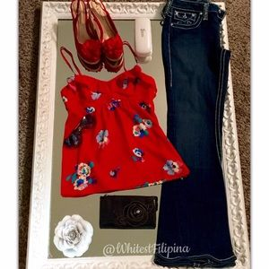 American Eagle Red Summer Flower Camille