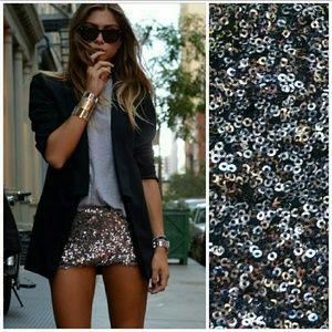17/21 Exclusive Denim Pants - 🌟🚨2 LEFT🚨Sassy little brown sequin shorts NWOT