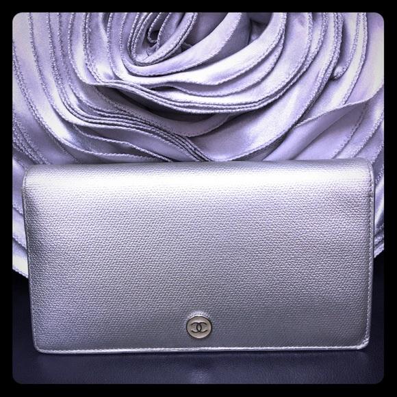 09d5ed8b711a CHANEL Bags | Silver Bifold Continental Wallet | Poshmark