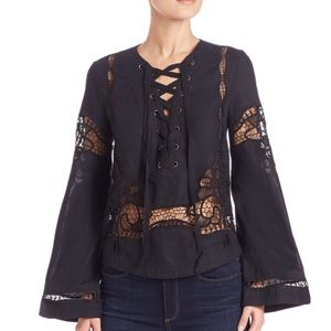 ✨NWT✨ Free People Bittersweet Lace up Top