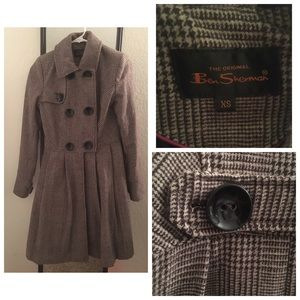 Ben Sherman Wool blend Trench XS only worn once