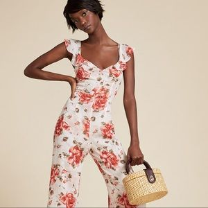 NWT Reformation Miri Jumpsuit in Primrose