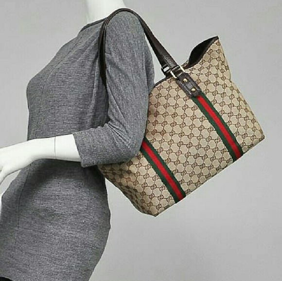 73 off gucci handbags weekend sale gucci gg fabric large tote bag from justina 39 s closet on for Gucci car interior fabric for sale