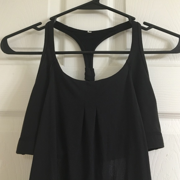 79dcd200f6 lululemon athletica Tops - Lululemon layered black sports bra w attached  tank