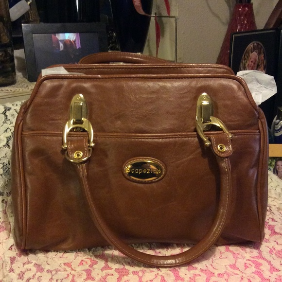 b7287225fb0f NWOT Capezio brown faux leather satchel