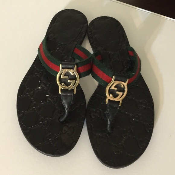 1ebc33512 Gucci Shoes - Gucci Signature Flip Flops   Sandals-
