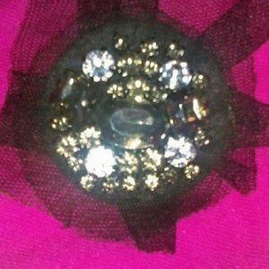 Large vintage rhinestone brooch
