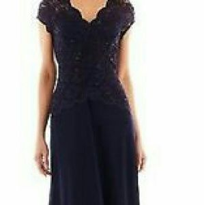 Onyx Nite cap sleeve evening dress