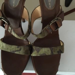 Casadei Shoes - Casadei camouflage leather studded army mules
