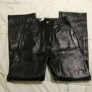 Celine Lambskin Leather Pants (Full Grain)