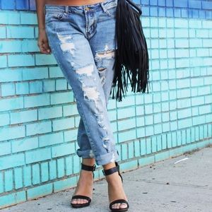 Destroyed. Boyfriend jeans