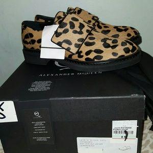 McQ Alexander McQueen Shoes - McQ Chatsworth calf hair leopard print loafers NWT
