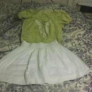 Banana  Republic white skirt! Nwt!