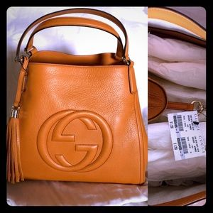 Gucci Leather Medium Soho Hobo