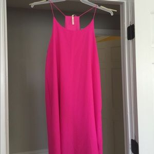 Hot pink summer dress worn once, size L