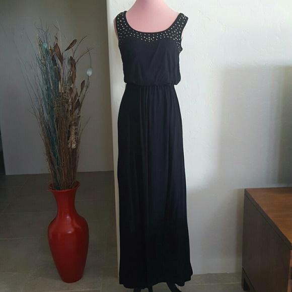 Alyx Dresses Bargain Basement Black Beaded Maxi Dress Poshmark