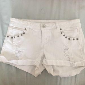 White Jean shorts!!