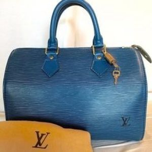 LV blue limited edition bag
