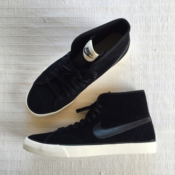 online store a3287 7e8df Nike Primo Court Mid Suede Black White