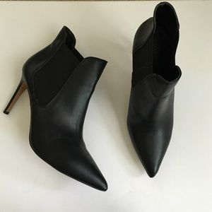LOFT Shoes - Black Pointed Ankle Booties