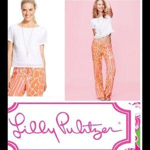 Lilly  Pulitzer White Crochet crop top Sz M