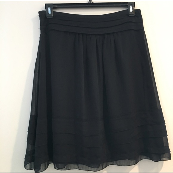 Bella Bird - Black Chiffon Skirt from Michelle's closet on Poshmark