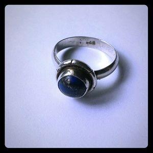 Sterling Silver/Lapis Lazuli Ring [Handmade]