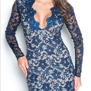 Holt Miami Eli Lace Dress M Navy