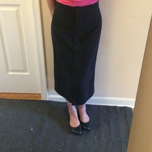 Free people black midi skirt. Brand new, never