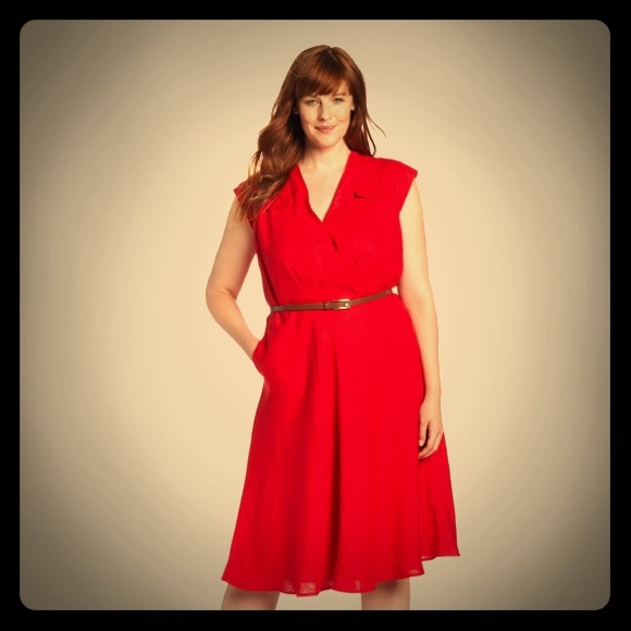 Jones New York Plus Size Belted Dress
